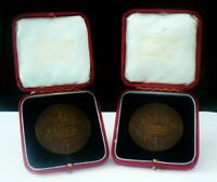 2 Cased Bronze Plumstead Rose Society Medallions from 1914
