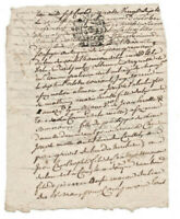 1790 manuscript signed notary letter document handwritten nice calligraphy and s