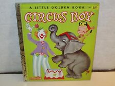 """Circus Boy "" Little Golden Book 1st Edition ""A"" 1957 Micky Dolenz"