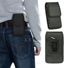 For Samsung Galaxy S9 S8 J3 Nylon Vertical Holster Belt Pouch Case