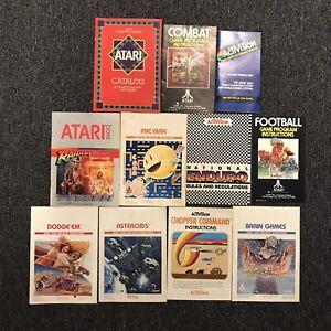 11 Atari 2600 Game Manuals Pac-Man Asteroids Raiders Lost Ark Dodge Em Lot