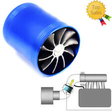 Double Turbine Turbo Air Intake Gas Fuel Saver Fan Supercharger Top Efficient