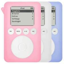 AMZER SILICONE SKIN JELLY CASE PACK OF 3 PINK, WHITE, BLUE FOR IPOD 3RD GEN