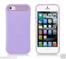 Apple iPhone 5 Hybrid Back Cover Skin Case Pastel Glow in Dark Purple