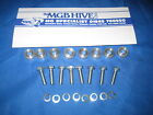 MG NEW SET OF 8 ALLOY SEAT SPACERS, BOLTS & WASHERS MGB ROADSTER/GT 62-80  EB121