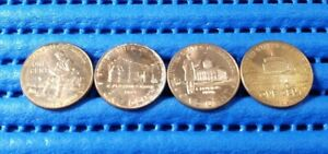 4X 2009 United States Centennial Commemorative Lincoln Penny 1 Cent Coin