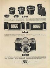 1962 Zeiss PRINT AD Ikon Contaflex Lens and Back System