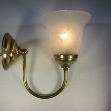Vintage Wandlampe Messing Wandleuchte Glasschirm Antik Stil Flurlampe Retrolampe
