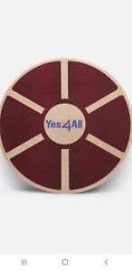 Yes4All Wooden Wobble Balance Board - Round Balance Board/ Stability Board New