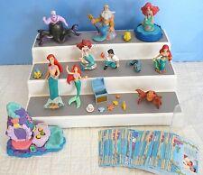 Disneys~The LITTLE MERMAID~ARIEL-KING TRITAN-ERIC-URSALA Figures & Trading Cards