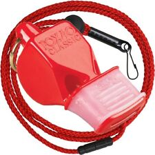 Fox 40 Sonik Blast CMG Whistle Lanyard Referee Coach Outdoor Dog Safety RED