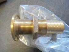 """1 1/4"""" BRONZE 3 3/4""""L  Thru-Hull Fitting - Bronze W/ Nut"""
