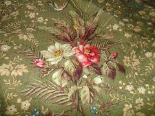 Charter Club Shower Curtain - 100% Cotton VGUC - Moss Green Floral