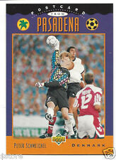 RARE Special '94 WC Upper Deck trading PostCard of Denmark's Peter Schmeichel