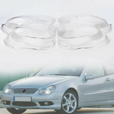 L & R Headlight Cover Lens Shell Fit Mercedes Benz C-Class W203 C230  2000-07