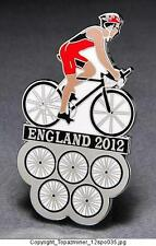 OLYMPIC PINS 2012 ENGLAND U.K. SPORT OF CYCLING CYCLIST BIKING - SILVER BACKED