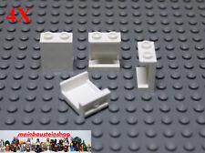 4X Lego® 87552 Paneele Panel Wand- Mauerelemente 1X2X2 Weiß White NEU