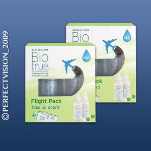 Biotrue Flight Pack Pflegemittel 4 x 60ml + 4 x Behälter Bausch&Lomb