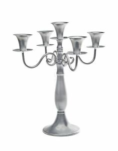 Studio Silversmiths Silver Metal 5 Light Candelaba