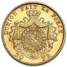 Belgium Gold 20 Francs Leopold II Avg Circ (Random) - SKU #44328