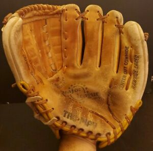 "Vintage Tru-Play Baseball Glove TF55 Rare 11"" Major League Model Softball"