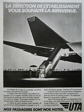 3/1983 PUB COMPAGNIE AERIENNE UTA AIRLINE BOEING 747 AIRLINER TAIL FRENCH AD