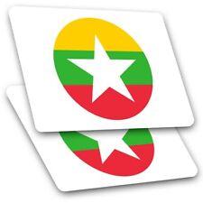 2 x Rectangle Stickers 10 cm - Awesome Burma Asia Naypyitaw #9106