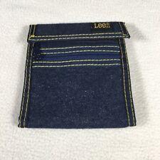 "Vintage Lee Soft Denim Wallet Bifold Billfold 4 3/8""x 4 3/4"" With Lee Tag 80's"