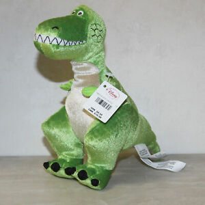 "Disney Bean Bag Plush Rex Pixar Toy Story Mint with tags 8"""