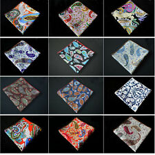 Men Floral Paisley Flower Cotton Hanky Prom Handkerchief Pocket Square Stylish