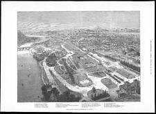 1884 Birds Eye View TORINO ESPOSIZIONE NAZIONALE ITALIANA ITALIA (101)