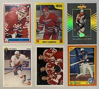 🏒HOF Eric Lindros 6-CARD LOT including 1989-90 7th Inning Sketch OHL #188