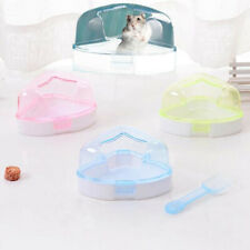 Plastic Rodent Potty Corner Toilet With Roof & Litter Scoop Hamster Mice Gerbil