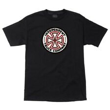 Independent Trucks RED/WHITE CROSS LOGO Skateboard Shirt BLACK MEDIUM