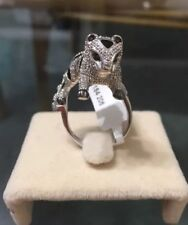 Silver White Panther Leopard Ring Size 8 CZ Women's Cubic Zirconia New NWT