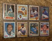 (8) Lee Smith 1982 Topps Fleer Donruss Rookie Card + 1983 1984 Lot RC Cubs HOF