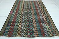 """Vintage Turkish Rug, Area Rug, Large Kilim, Wool Rug, Floor Rug, Carpet 76""""X104"""""""