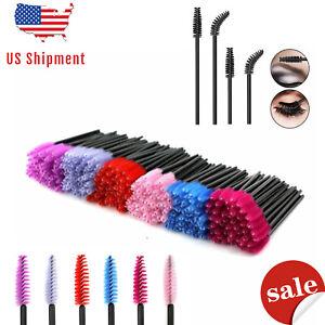 EZGO Disposable Eyelash Mascara Brushes Wands Applicator Makeup Brush Kits Women