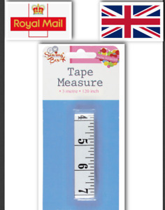 3M SEWING EXTRA LONG  TAILOR TAPE MEASURE FABRIC MEASURING TAPES RULER uk