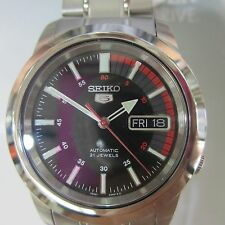 SEIKO 5 JAPAN MEN'S WATCH AUTOMATIC ALL S/S ORIGINAL SNKL31 NEW