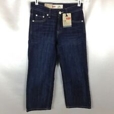 LEVI'S 550 Women's Dark Wash Blue Jeans Relaxed Fit HAWTHORNE Size 8 Regular NEW