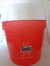 Banks Barbados Beer Ice Bucket Red Plasric Barbados Caribbean