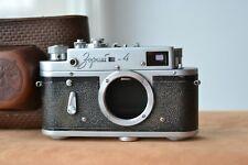 ZORKI-4 Body Leica bases) rangefinder camera  USSR &  Original Leather Case