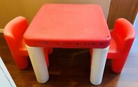 Little Tikes Child Size Activity Table with 2 Chunky Chairs Clean FREE SHIPPING