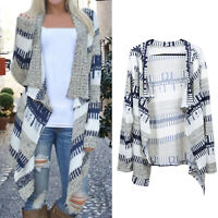Women's Long Sleeve Cardigan Knitted Sweater Poncho Shawl Coat Jacket Outwear