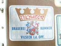 VINTAGE HAMMER  BREWERY VILSATOR GERMAN BEER LABEL UNUSED