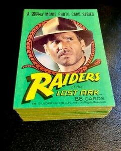 Indiana Jones Raiders Of The Lost Ark - Topps 88 Card COMLETE SET ~  MINT!