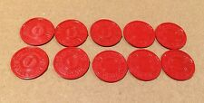 10 Vintage Missouri Sales Tax Tokens 1-mill 1 Red Plastic State