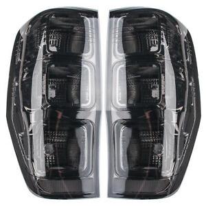TINT SMOKE BLACK REAR TAIL LIGHT LAMP FOR FORD RANGER T6 T7 MK2 MK3 PX 2011-2021