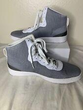 Nike Pro Stepper Sneakers Mens Sz 11.5 Gray Silver Hi Tops 776086-004